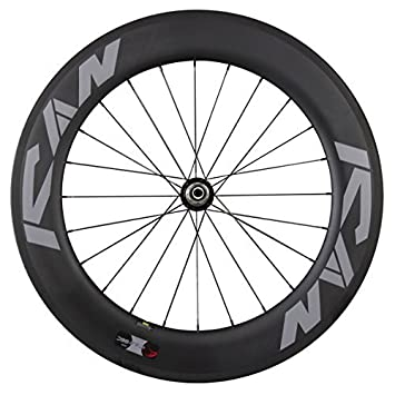 ICAN 86 mm Carbono Carretera Ruedas Clincher Tubeless Ready Basalto Borde Freno Superficie Powerway R36 Hub: Amazon.es: Deportes y aire libre