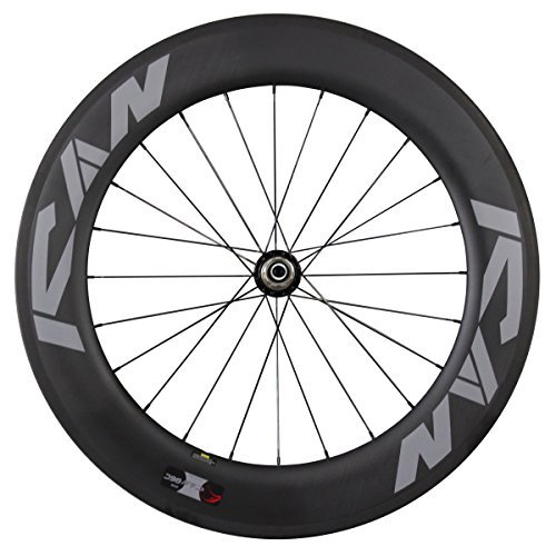 ICAN 86 mm道路カーボンホイールセットクリンチャーホイールReadyバサルトブレーキサーフェスリムPowerway r36ハブ  Rear wheel-24 holes B01E6U9I5C