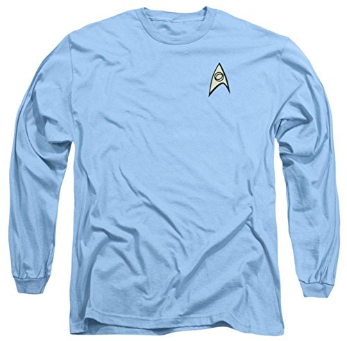 Star Trek Science Blue Uniform Adult Long-Sleeve T-Shirt, Small -