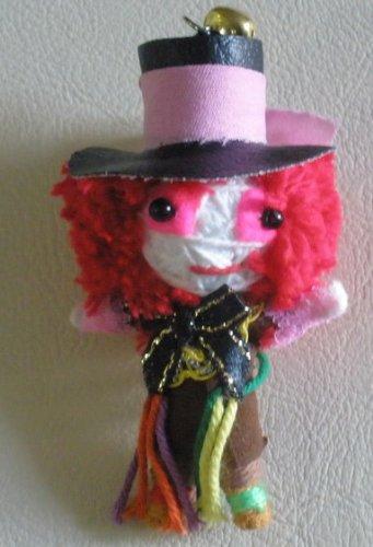 Mad Hatter Alice in Wonderland文字列人形Voodooキーチェーン B008FTQG2E