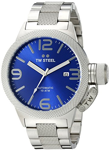 TW Steel Men's CB15 Analog Display Quartz Silver Watch
