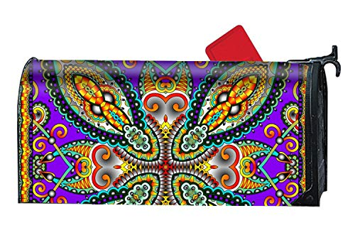 Michael Trollpoe Home Mailbox Wrap Paisley Floral Print Four Seasons Magnetic Mailbox Cover