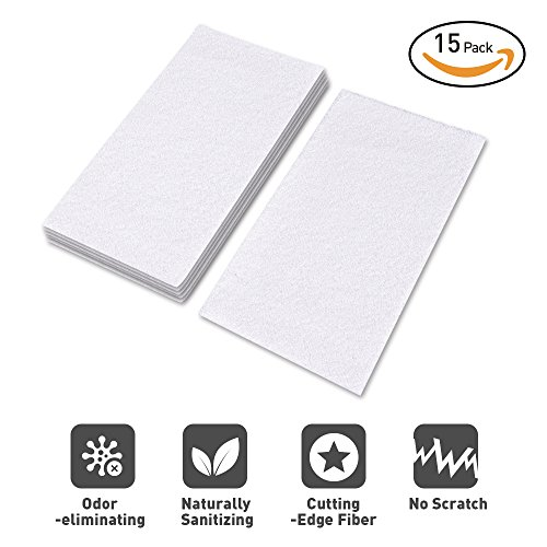 15 Sets of Disposable Microfiber Cleaning Pads for Light 'n' Easy S3101/S7326, Steam Pocket Mop Pads for Most Hard Flooring Surface