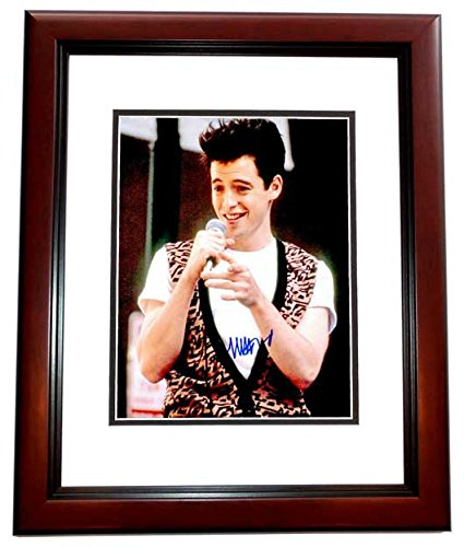 Matthew Broderick Signed - Autographed FERRIS BUELLERS DAY OFF 8x10 inch Photo MAHOGANY CUSTOM FRAME - Guaranteed to pass PSA or JSA ()