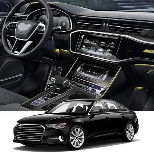 XHULIWQ GPSナビゲーションスクリーンフィルムガラスディスプレイスクリーンフィルムクライメートコントロール、Audi A6 C8 4K 2018-2020