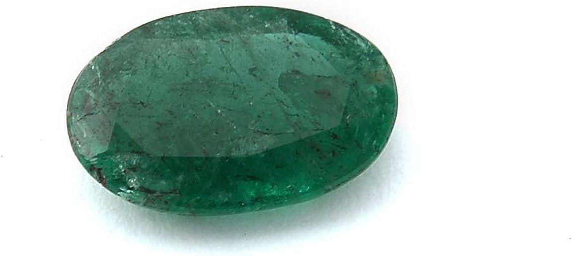 Jaipur Mart Gems 2 Quilates Forma Oval Natural de Zambia Verde Esmeralda Cabochan Pieza para Hacer la joyería, Pendiente de la Esmeralda, la curación de Piedras Preciosas