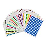Hongma A4 Round Dot Labels Stickers Multicolor Self Adhesive 10mm 20mm 25mm 30mm