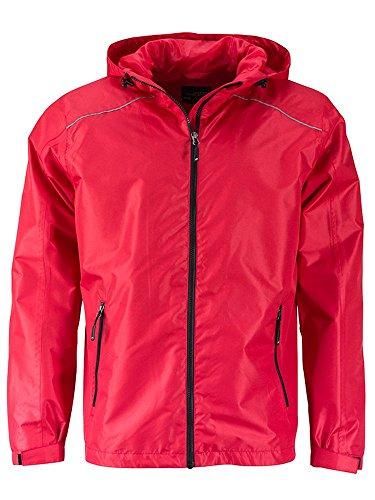 Jacket Funzionale Giacca Rain Da Casual Pioggia E black Men's Red HwHxFZ0q4