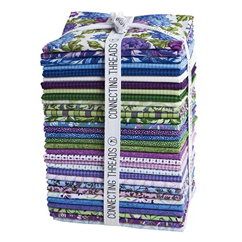 - Connecting Threads Print Collection Precut Quilting Fabric Bundle (Mum's Garden - Fat Quarters)