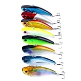 Qjoy Fishing Lure Hard Bait Tight Wobble Slow Floating Jerkbait Nickel Hooks Tiny Minnow Crankbait 8pcs 3.95inch