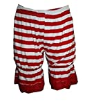 Insanity Striped Red & White Short Bloomers (M/L)