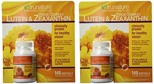 TruNature Vision Complex with Lutein & Zeaxanthin - 2 Bottles, 140 Softgels Each (Pack of 6) by TruNature