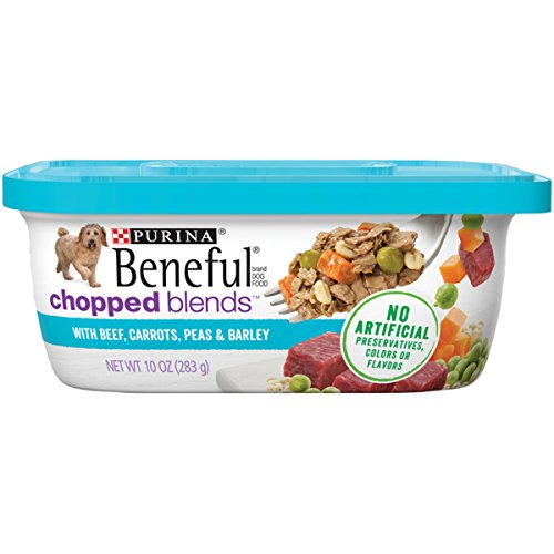 Purina Beneful Chopped Blends With Beef Carrots Peas & Barley Adult Wet Dog Food - (8) 10 Oz. Tubs