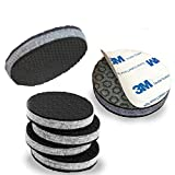 'SlipToGrip' Non Slip Furniture Pad Grippers - (4 Pack) Extra Large 3' Round with Adhesive Side - Furniture Non-Slip Pads with 3/8' Heavy Duty Felt Core. No Nails. Patent Pending.