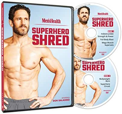 Men's Health Superhero Shred Starring Don Saladino - 2 DVDs