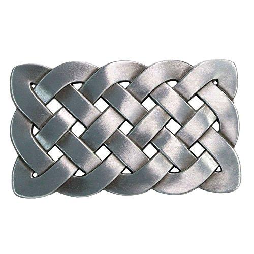 Landisun Handmade Large Rectangle Celtic Knot Belt Buckle