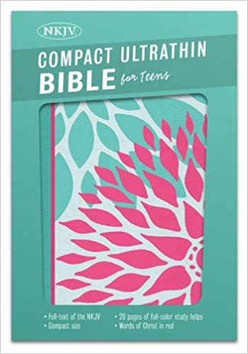 NKJV Compact Ultrathin Bible for Teens, Green Blossoms