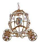 Golden Coach Wire and Jewels Christmas Holiday Ornament 5 Inches