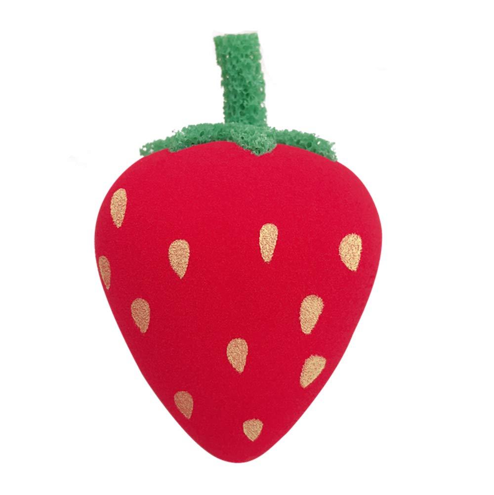 HEYNA Q Strawberry Makeup Sponge Blender Foundation Beauty Sponge Premium Soft Makeup Egg Flawless for Liquid Cream and Powder Latex Free Reusable
