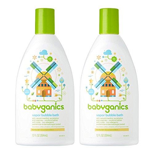 Babyganics Vapor Bubble Bath Bundle - 2 Items: 12 oz Bottles