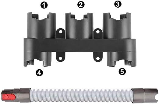 Manguera de extensión para aspiradora Dyson de aprox. 52 cm extensible hasta 150 cm para aspiradora Dyson V7 V8 V10 V10 V11 y soporte de piezas para Dyson V7 V8 V10 V11.: