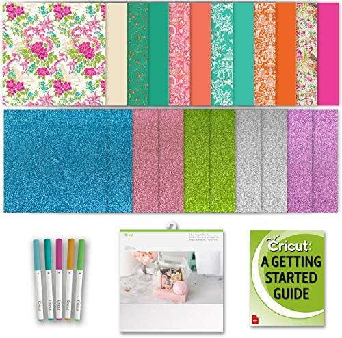 Cricut Machine Paper: Glitter, Floral Patterned, and Clear