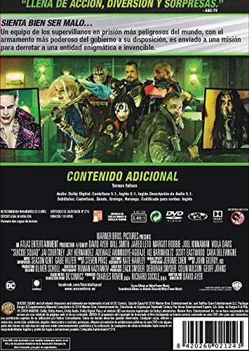 Escuadrón Suicida Ed. 2018 [DVD]: Amazon.es: Will Smith, ¿Margot Robbie, Joel Kinnaman, Viola Davis, Jai Courtney, Jared Leto, Cara Delevingne, ...