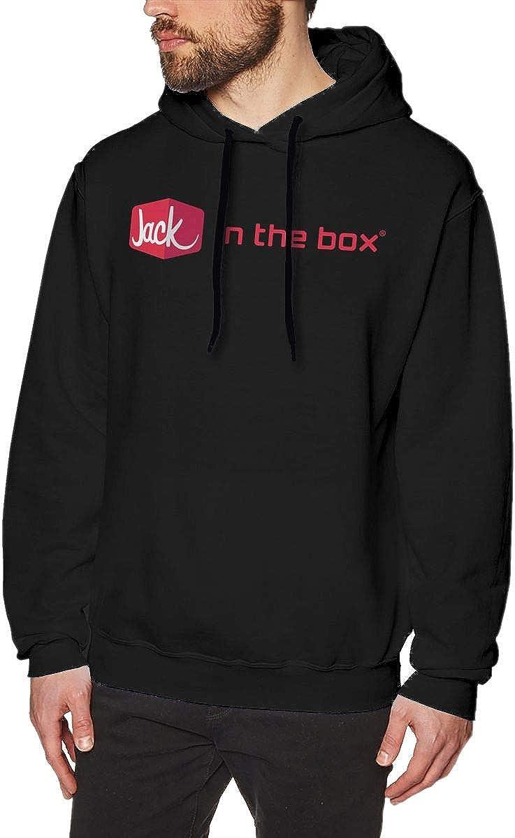 EVE JOHN Black Jack in The Box Fast Food Logo Hoodies Classic Hoodies Men Hoodie