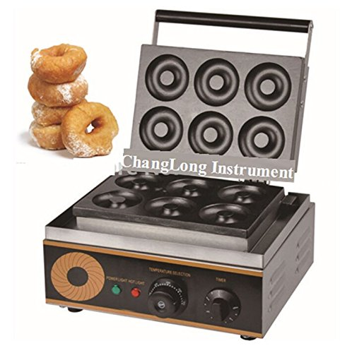 Changlong instrument® FYX-6A Electric six pieces Donut Maker Machine commercial donut making machine 110v/220v
