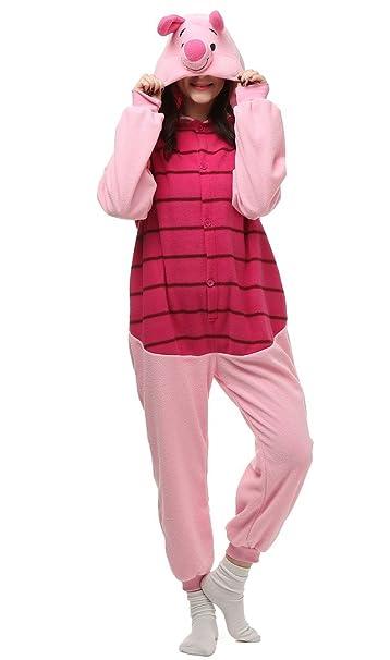 Auspicious beginning Unisex-adulto Piglet traje de Cosplay de los pijamas de dibujos animados Homewear