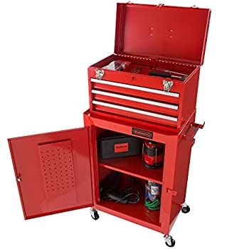 Rolling Tool Box Cabinet, 3 Drawer Portable Storage Chest Tools And Garage  Organizer With Wheels