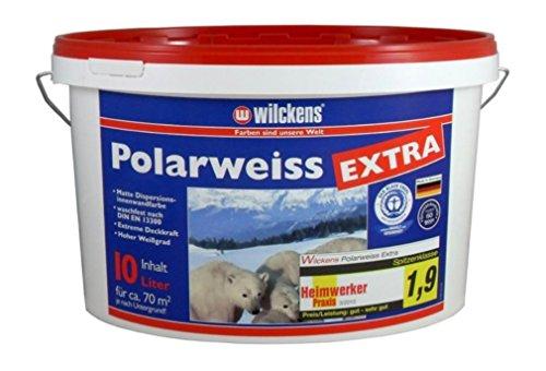 Wilckens Wandfarbe 10 L. Polarweiss Extra Weiss Matt, extreme Deckkraft