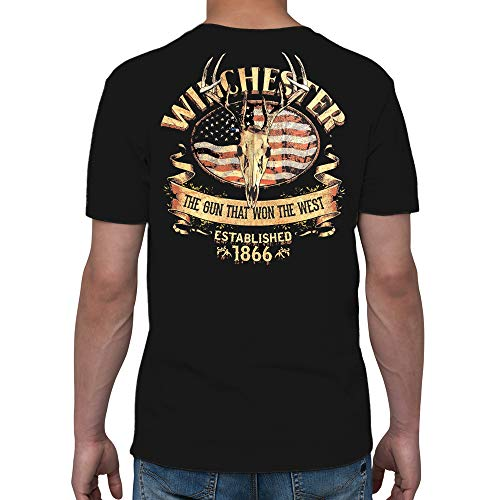 Winchester Official Men's Southern Rebel Skull Graphic Short Sleeve Cotton T-Shirt - Xxl Official T-shirt