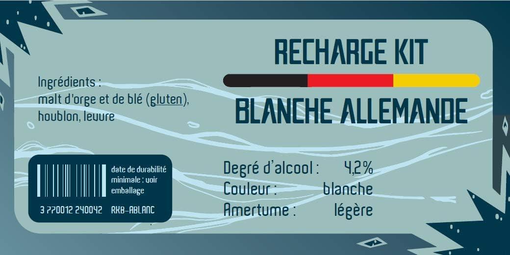 Recharge kit /à bi/ère Blanche Allemande 8L