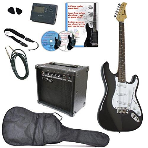 CLIFTON E-Gitarre CUSTOM - Komplett-Set!