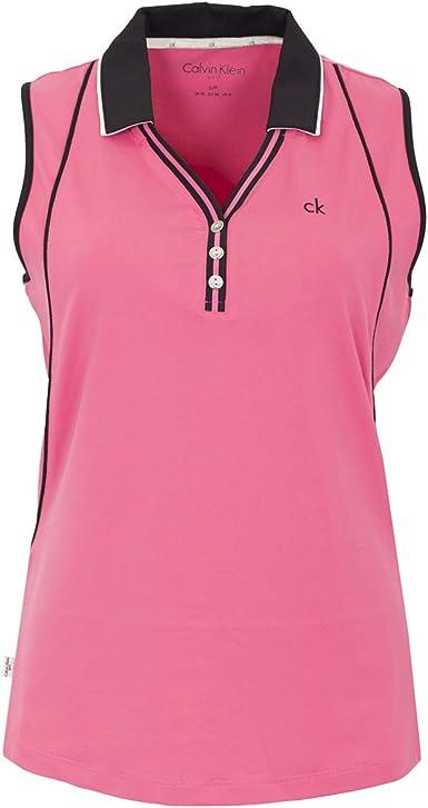 Calvin Klein - Camisa deportiva - para mujer rosa Flor UK 8: Amazon.es: Ropa y accesorios