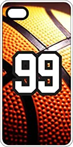 Basketball Sports Fan Player Number 97 White Rubber Decorative iphone 5s Case