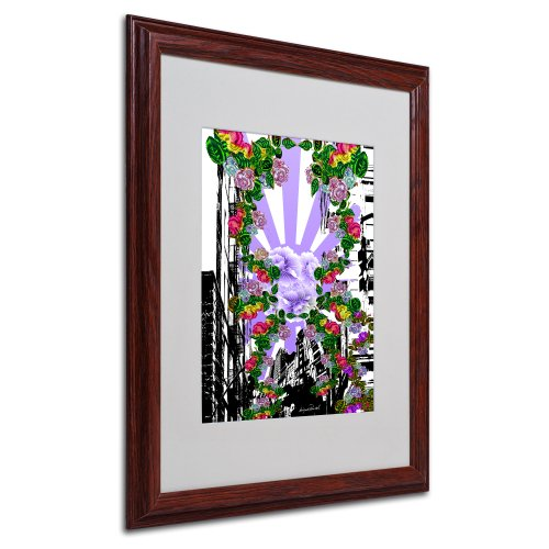 New City 4 by Miguel Paredes, Wood Frame 16x20-Inch