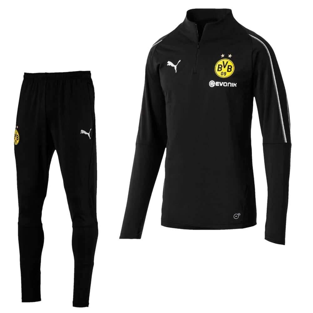 Puma Borussia Dortmund 1 4 Trainingsanzug - schwarz 2018 2019