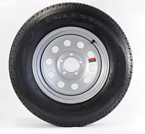 Trailer Tire + Rim ST205/75D15 F78-15 205/75-15 15