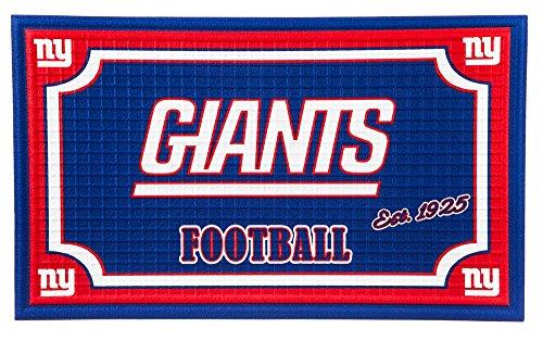 Team Sports America 41EM3820 Embossed Door Mat, New York - Giants York New Rug