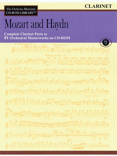 Orchestra Musician's CD-ROM Library Volume 6 Clarinet Mozart And Haydn Clarinet Orchestra Musicians Cd Rom
