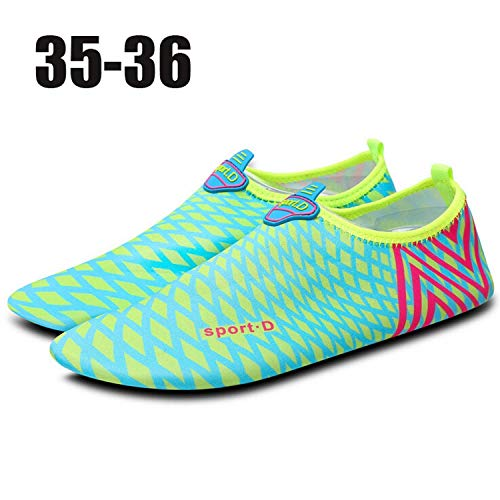 maggilee Beach Diving Swimming Shoes Outdoor Water Shoes Scuba Snorkeling Socks Boots,Green4142,Green3536 -