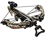 Carbon Express 20263 Covert CX-3 SL Crossbow Kit (Rope Cocker, 3 Arrow Quiver, 3 Crossbolts, Rail Lubricant, 3 Practice Points, 4x32 Glass-Etched Reticle Lighted Scope), Kryptek Highlander Camo