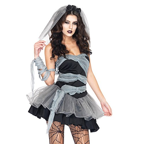 Damen Frauen Vampire cosplay Kostüme Geisterbraut Halloween Abendkleid