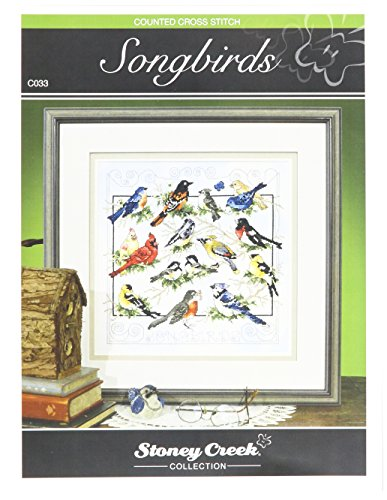 Stoney Creek SCC-C033 Cross Stitch Chart Pack, Songbirds (Cross Stitch Charts)