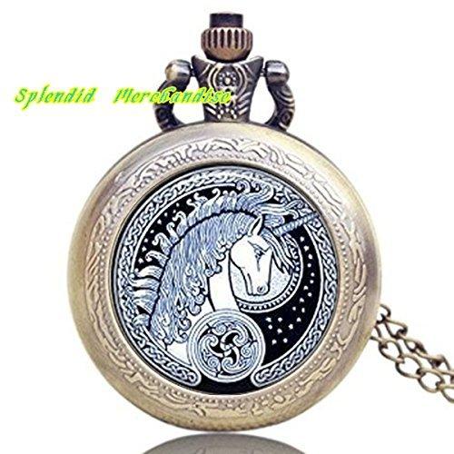 Splendid Merchandise® Celtic Unicorn Pendant Watch , Fairy Tale Pendant, Unicorn Jewelry, Unicorn Jewellery, Fantasy Jewelry, Unicorn Necklace -