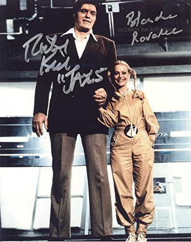 Richard Kiel and Blanche Ravalec as Jaws and Dolly (Moonraker) Autographs