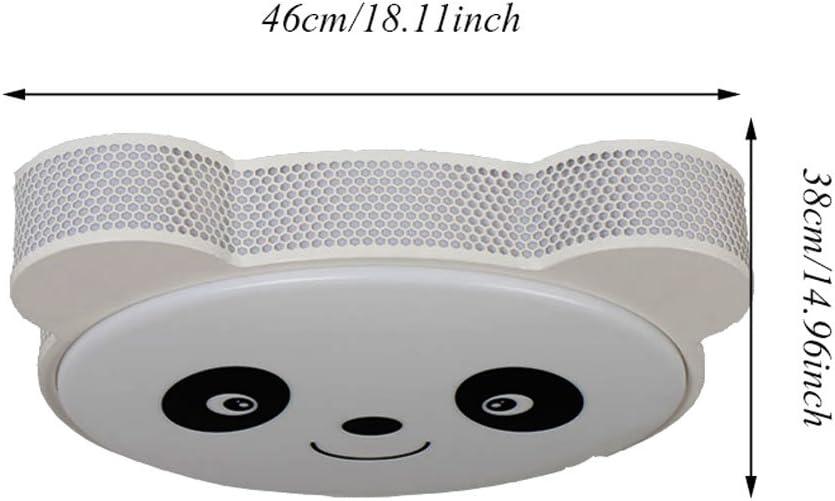 Classe /Énerg/étique A ++ FHTD Creative Chambre Denfants LED Panda Fer Lustre Dimmable Plafonnier Chambre Acrylique Pendentif Lampe