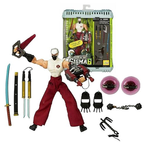 Gi Claws Joe (Hasbro Year 2006 G.I. JOE Sigma 6 Classified Series 8 Inch Tall Action Figure - Ninja STORM SHADOW with Nunchaku, Battle Knife, Katana Sword, Climbing Cups, Bolo Launcher, Grappling Hook, Boot Claws, Chained Ball and Weapons Case)